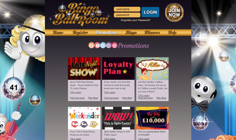 Latest promotions page