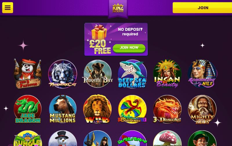 Slots game lobby