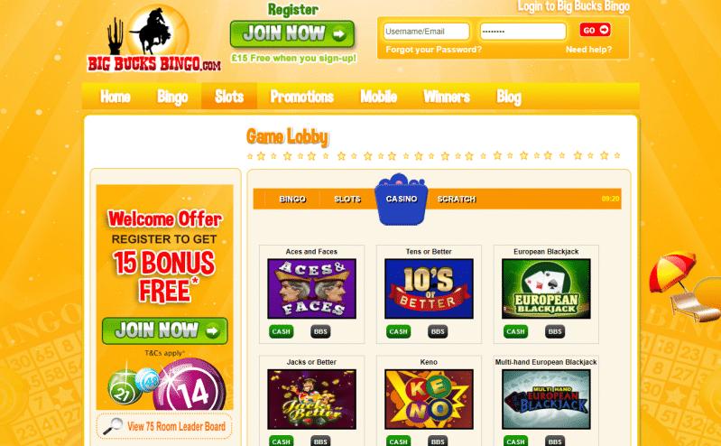 Slots lobby