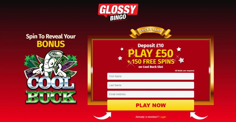 Glossy Bingo latest offer