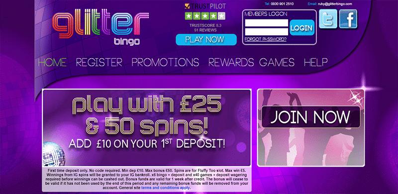 Glitter bingo no deposit a roulette machine