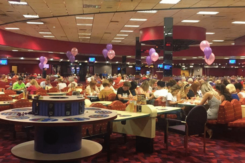 Bingo hall seating